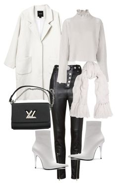 """""""Untitled #22866"""" by florencia95 ❤ liked on Polyvore featuring Monki, Alexander Wang, Golden Goose, Johnstons of Elgin, Jeffrey Campbell and Louis Vuitton"""