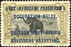German East Africa - Belgian occupation 1f [MiNr 7, Sc N23]