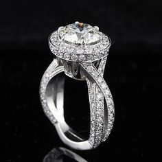 Diamond Pave Engagement Rings With A Lot Of Bling 36