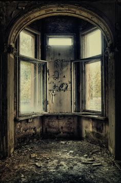 Abandoned house in Gdansk, Northern Poland..