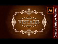 How to design a Vintage Logo in Adobe Illustrator - YouTube