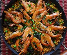 Spring Paella with Shrimp, Peas & Morels - Andrew Zimmern Shellfish Recipes, Seafood Recipes, Cooking Recipes, Seafood Dishes, Easy Spanish Paella Recipe, Spanish Recipes, Crab Cake Recipes, Andrew Zimmern, Food & Wine Magazine