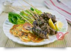 Grilled Rosemary Lamb Skewers & Haloumi