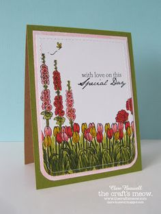 Clare's creations - Stamp sets used - Cottage Garden and Potted Garden from The Craft's Meow