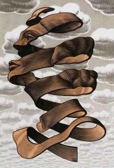 """M.C. Escher: """"Rind,"""" 1955."""