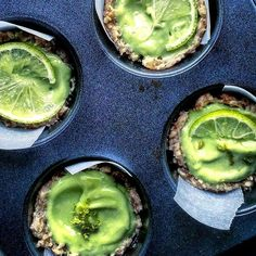 Vegan Avocado Lime Tartelettes. Get this and 80+ more Vegan recipes at https://feedfeed.info/our-favorite-vegan-recipes