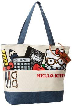 Amazon.com: Hello Kitty SANTB0705 Tote,White/Red/Cream/Black,One Size: Clothing