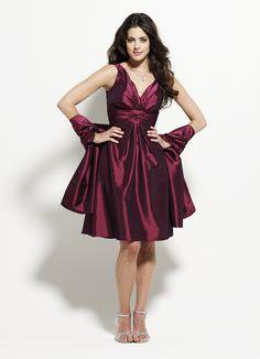Selskapskjoler : Burgunder kjole 08-1586