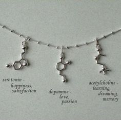 The best way to celebrate #Valentine's Day is to get your special little #nerd a necklace with molecules of love.