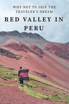 Not so colorful rainbow mountain and traveler's dream Red Valley in Peru - Ejnets on the road Travel Sights, Peru Travel, Wanderlust Travel, Travel Usa, Travel Destinations, South America Destinations, South America Travel, Merida, Ecuador