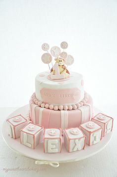 All sizes | PINK BEAR BIRTHDAY CAKE | Flickr - Photo Sharing!