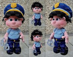 Police Elf Boy PATTERN crochet amigurumi