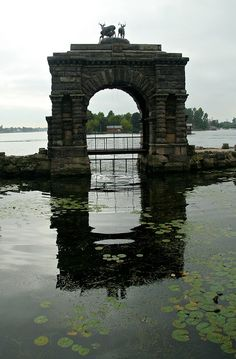 Entry Arch at Bolt Castle, Upstate New York