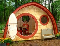 The Little Merry Hobbit Hole ships as a kit.  Pricing starts at $1,495. http://www.hobbitholestore.com/