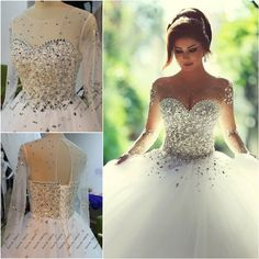 Find More Wedding Dresses Information About 2015 Real Photo Long Sleeve Dress Vestidos De Noiva