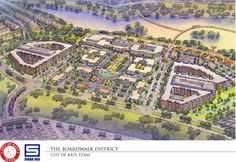 The city of Katy's planned Boardwalk District has been substantially redesigned from its original blueprint as planners seek to better incorporate the boardwalk and a nature area into the layout for the complex.  For some months, the city and its project partners, Kerry R. Gilbert & Associates and Sueba USA Corp., have been working to change the design after the original plan showed buildings blocking the view of the boardwalk and a pond.  In February, the development experienced a dela...