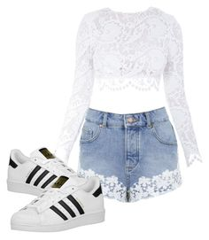 """Без названия #4"" by roxanammk on Polyvore featuring мода, Stone_Cold_Fox, Miss Selfridge и adidas Originals"