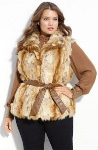 PLUS Size Trend Of The Day...Kristen Blake Belted Faux Fur Vest From Nordstrom.com - PLUS Model Mag
