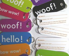 dog tag business card