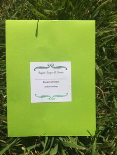 Fresh Cut Grass Sachet Envelope by SaponeSoaps on Etsy