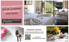 Se acerca el día de la madre. ¡Qué mejor idea que regalar relax, naturaleza, gastronomía.... en un #hotelrural en #Asturias  http://www.elmiradordeordiales.com/
