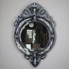 Venetian Glass, Venetian Mirrors, Mirror Cabinet With Light, Wall Mirror, Mirrored Furniture, Mirror Cabinets, Interior Walls, Interior Decorating, Bubble Pack
