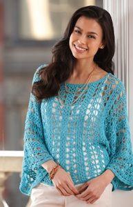 Aqua Dream Lace Topper free pattern