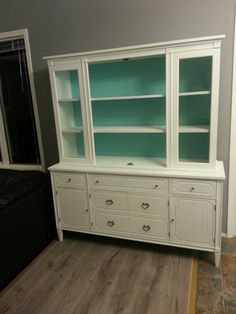 Recycled and refinished china cabinet