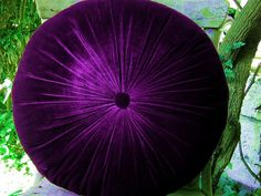 Round pillow 40 cm( 16 inch)    Made of Silk Velvet fabric(Purple)    Round cushion can be dry cleaned