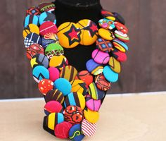Hey, I found this really awesome Etsy listing at https://www.etsy.com/listing/264211218/african-print-statement-necklace-ankara