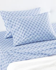 The inspiration? One of Serena's vintage African adire cloths – traditional textiles characterized by artful, indigo-dyed designs. Navy Bedding, Dorm Bedding, Big Girl Rooms, Boy Room, Luxury Sheets, Luxury Bedding, Bedroom Bed, Master Bedrooms, Bedroom Ideas