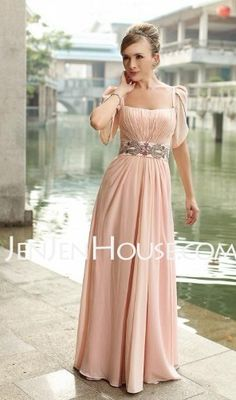 Bridesmaid Dresses - $119.99 - A-Line/Princess Strapless Floor-Length Chiffon  Charmeuse Bridesmaid Dresses With Ruffle  Beading (007004718) http://jenjenhouse.com/A-line-Princess-Strapless-Floor-length-Chiffon--Charmeuse-Bridesmaid-Dresses-With-Ruffle--Beading-007004718-g4718