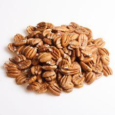 Pcannødder - let kryddert øko nød Sunde snacks til enhver lejlighed. Se de mange nøddetyper på:  http://www.frugtkurven.dk/noeddekurve/Noedderne