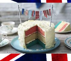 Red, White and Blue Layered Cake