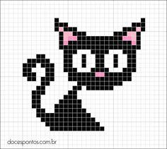 Black cat-Cross Stitch Pattern