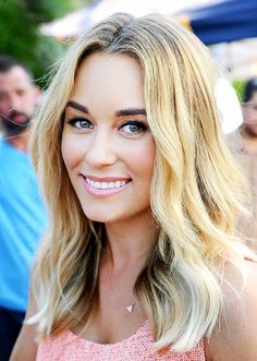 Lauren Conrad shares how she keeps her signature wavy blonde hair healthy with a simple tip