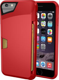 """Amazon.com: iPhone 6/6s Wallet Case - Vault Slim Wallet for iPhone 6/6s (4.7"""") by Silk - Ultra Slim Protective Phone Cover (RED)"""