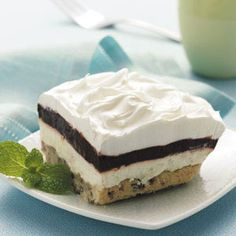 Layered Chocolate Pudding Dessert Recipe from Taste of Home :: shared by Carma Blosser of Livermore, Colorado :: http://pinterest.com/taste_of_home/