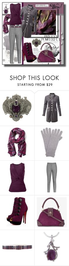 """Pretty Powerful"" by kelly-floramoon-legg ❤ liked on Polyvore featuring Stephen Webster, Komar, Banana Republic, Cash Ca, Venus, Reiss, Christian Louboutin, MANU Atelier, Maison Margiela and NOVICA"