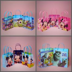 Colorful And Cute Disney Plastic Bags Are Perfect For Birthday Party Favors