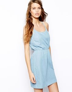 Image 1 of Only Denim Strappy Dress