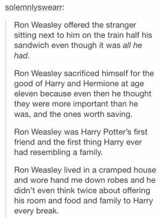 """THIS IS TO THE PEOPLE WHO SAY THAT RON IS """"THE USELESS FRIEND"""" HE IS NIT F*CKING USELESS IN YA FACE"""