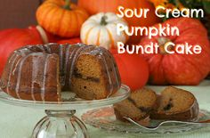 Sour Cream Pumpkin Bundt Cake from SusieQTpies Cafe Apple Recipes, Pumpkin Recipes, Fall Recipes, Holiday Recipes, Just Desserts, Delicious Desserts, Dessert Recipes, Yummy Food, Dinner Recipes