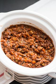 Crockpot Vegan Lentil and Mushroom Sloppy Joes. A delicious sloppy joe packed with protein, iron, and fiber.