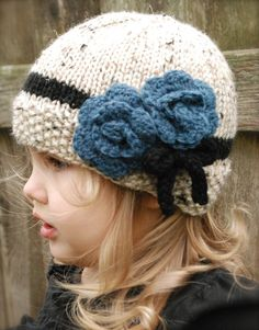 Chaylie Cloche' Knitting pattern by The Velvet Acorn, a cute hat pattern for the winter! Find this children pattern and more inspiration at LoveKnitting.Com.