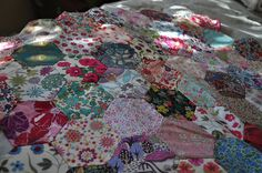 Liberty fabric - hexies hand piecing - Lucy & Norman