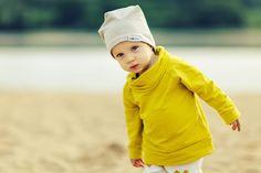 Bluza z kominem Lime - MONKA-kids - Bluzki dla niemowląt
