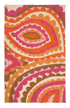 Trina Turk Vivacious Hook Pink Rug But I can't fing rugs like these at Turkey Kids Patterns, Textures Patterns, Fabric Patterns, Hand Painted Fabric, Eclectic Rugs, Painted Floors, Textile Prints, Textiles, Contemporary Rugs