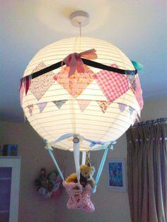 children's bedroom light shade paper lantern hot air balloon patchwork