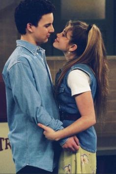 Ben Savage and Danielle Fishel as Corey & Topanga from Boy Meets World. It disappoints me more than anything that these two aren't married in real life :(